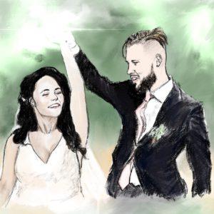 Custom Portrait of a Couple